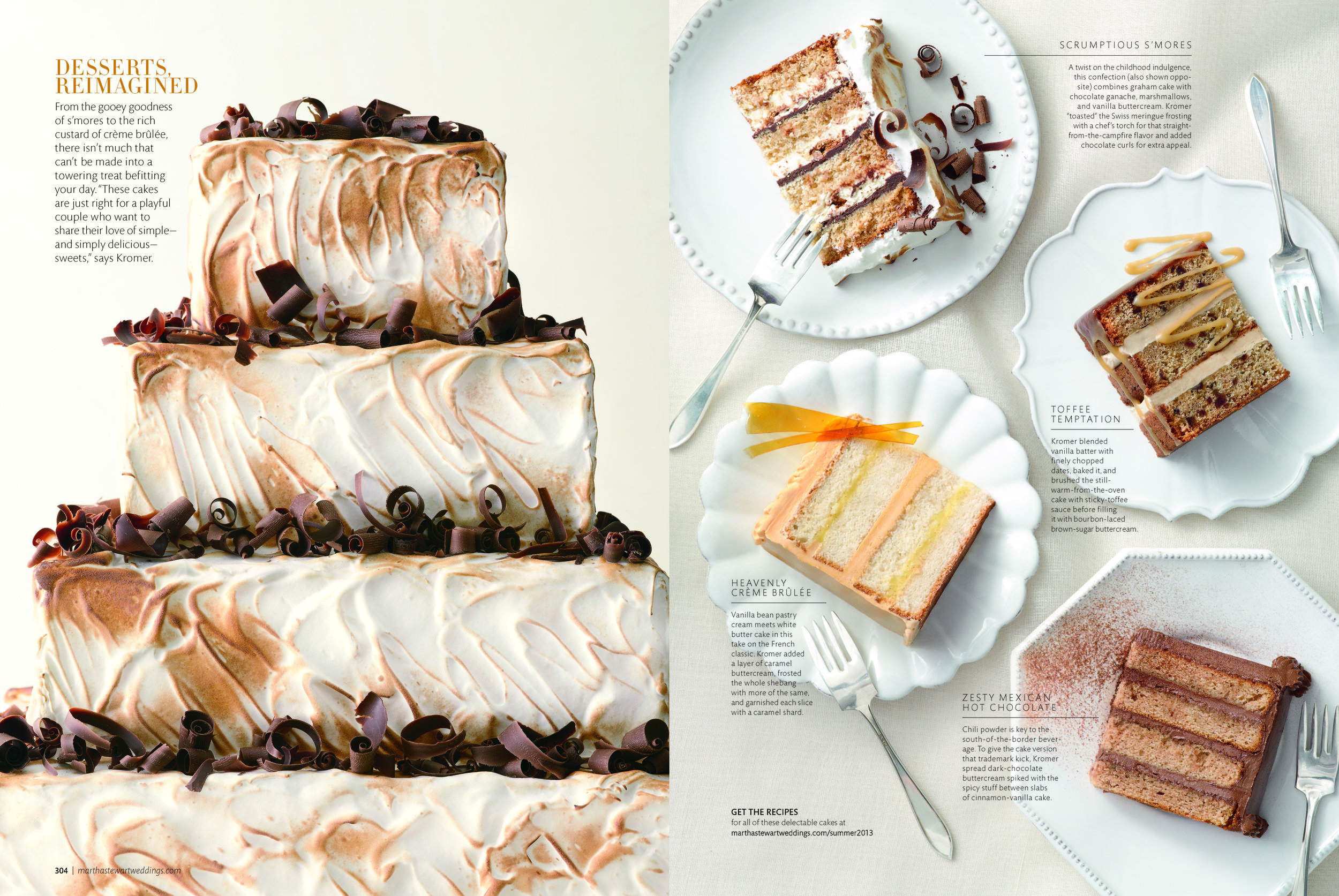 Smores Cake Martha Stewart Weddings