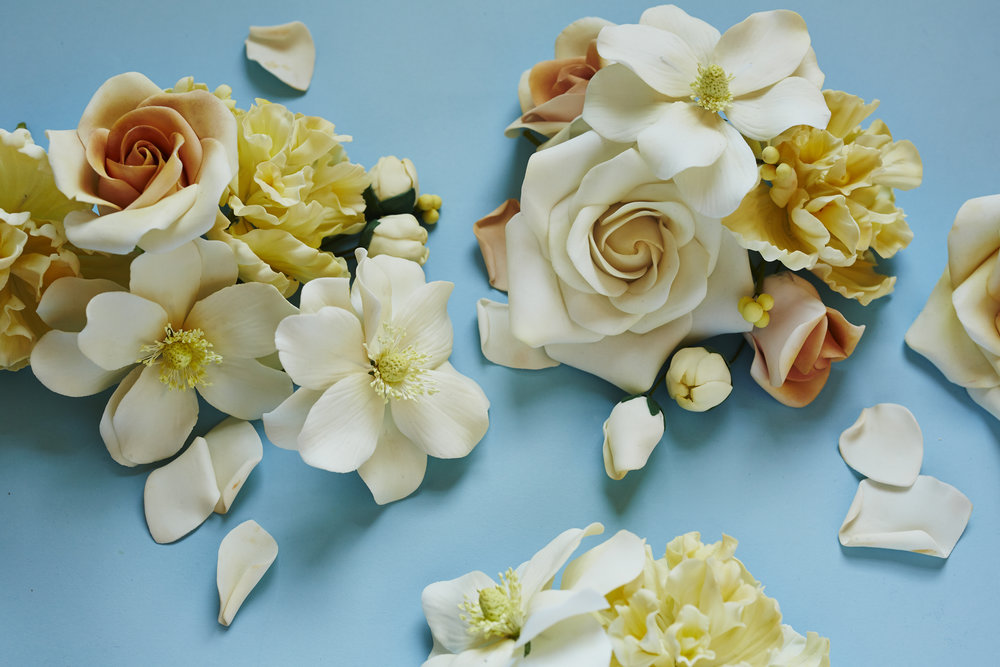 Gum Paste Flowers, Martha Stewart Weddings