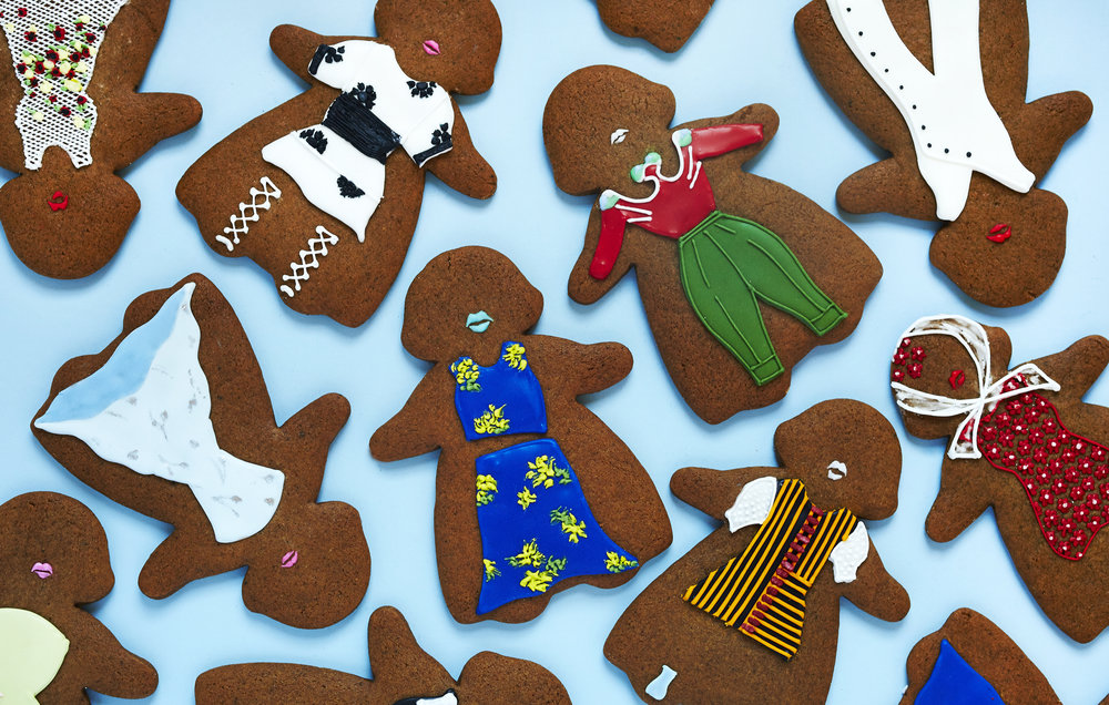 Runway Look Gingerbread Cookies, Vogue