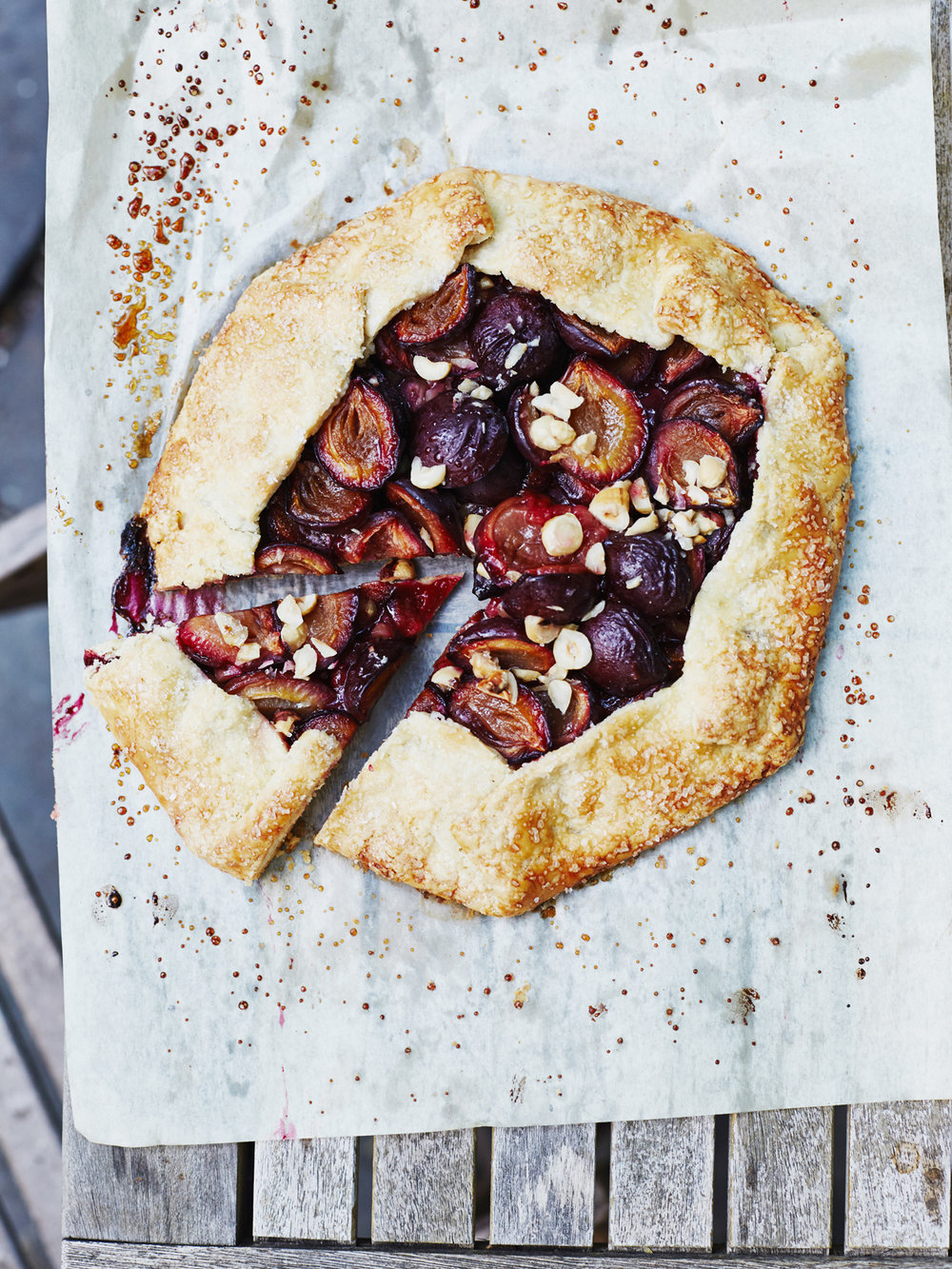 Italian Plum and Hazelnut Galette