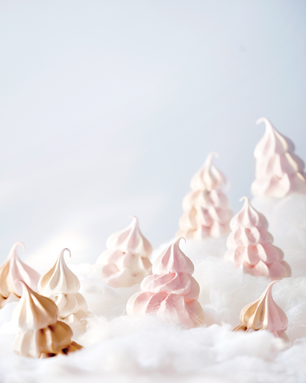 Brown Sugar Swirl Meringue Trees, Martha Stewart Living
