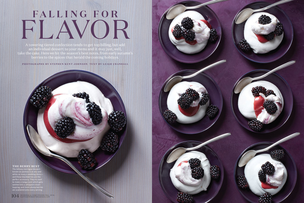 Blackberry Pavlovas, Martha Stewart Weddings