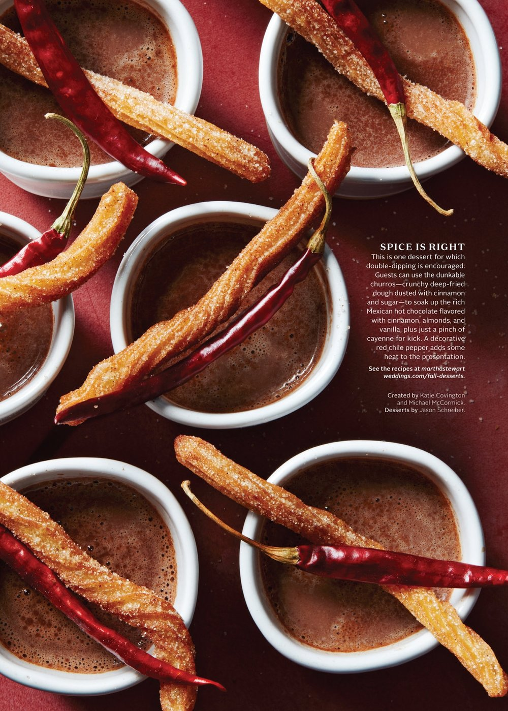 Churros and Hot Chocolate, Martha Stewart Weddings