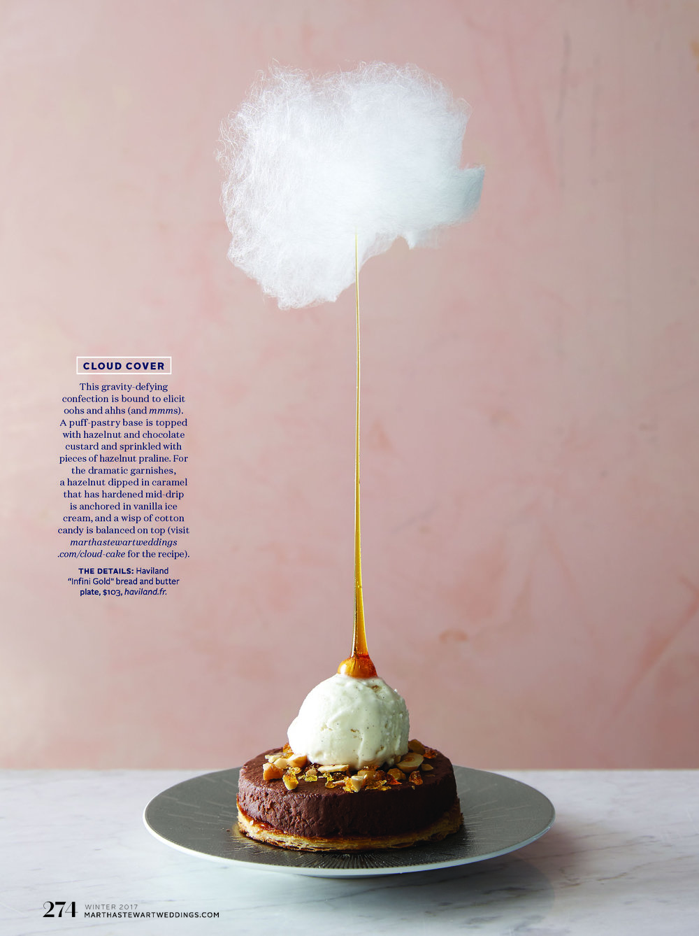 Chocolate and Caramel Hazelnut Cloud Cake, Martha Stewart Weddings