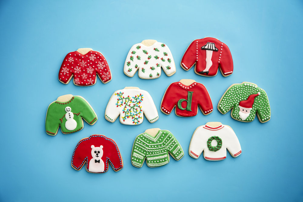 Ugly Christmas Sweater Sugar Cookies, Delish