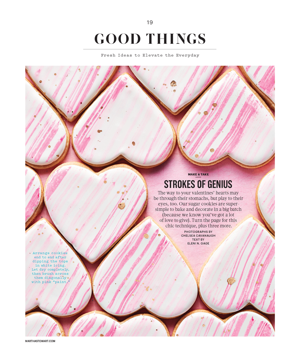 Painted Heart Cookies, Martha Stewart Living