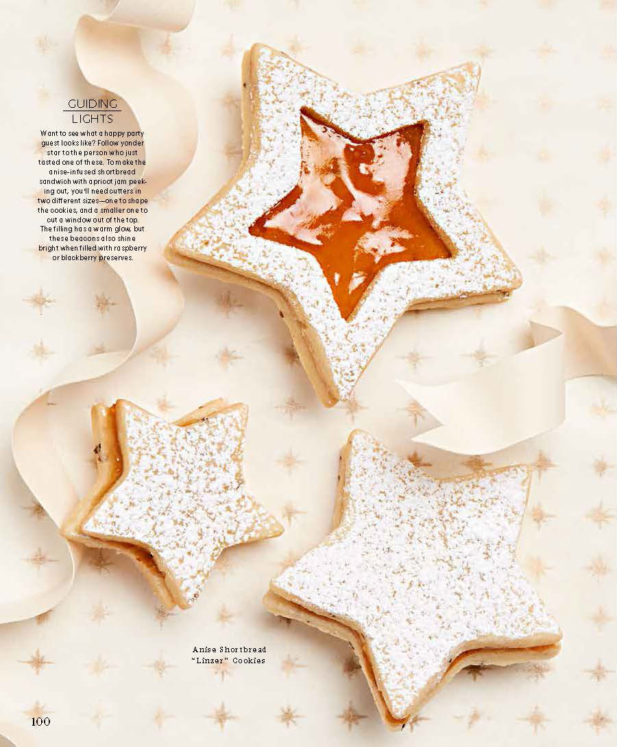 Linzer Star Cookies, Martha Stewart Living