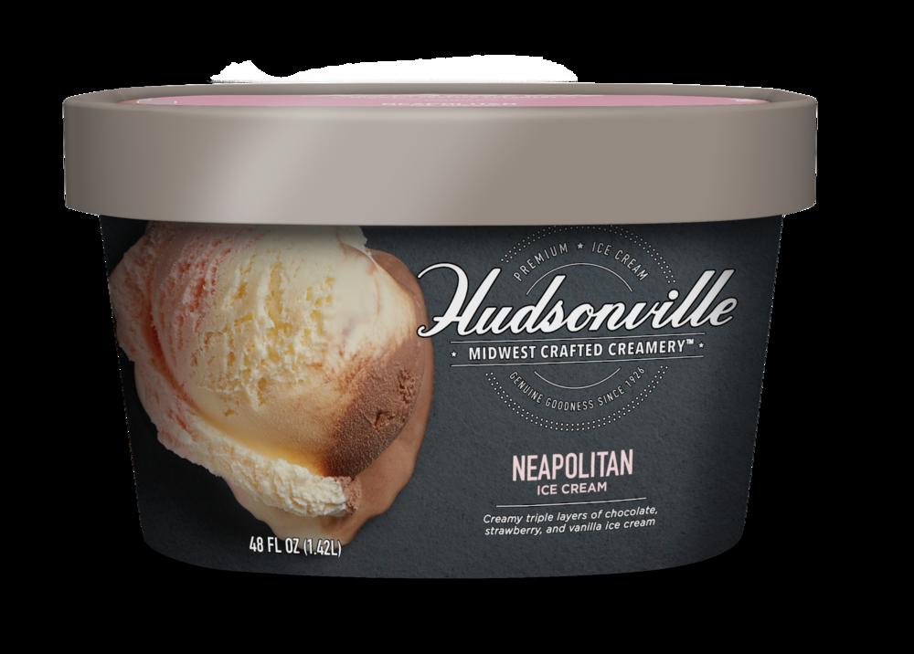 Hudsonville Ice Cream: Neapolitan