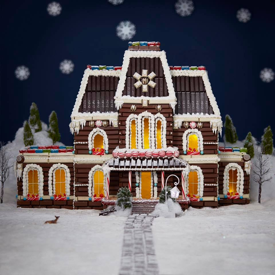 "The largest ""gingerbread"" house I've made so far."