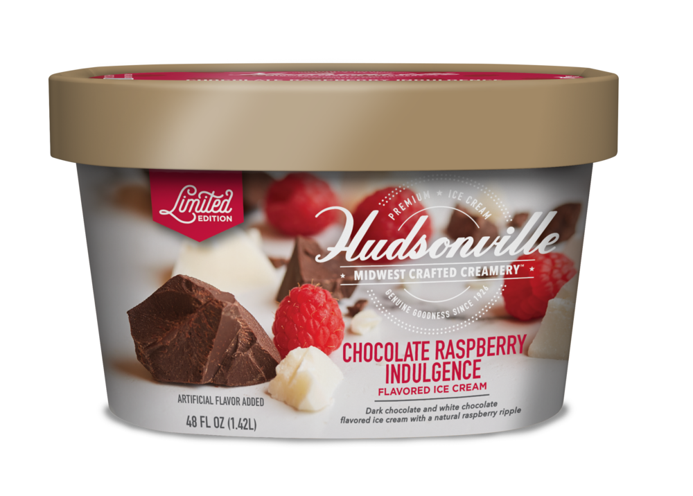 Hudsonville Ice Cream: Chocolate Raspberry Indulgence