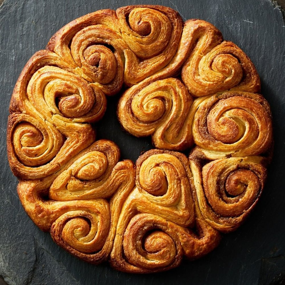 Cinnamon Swirl Danish (Martha Bakes on PBS), Photo by Mike Krautter