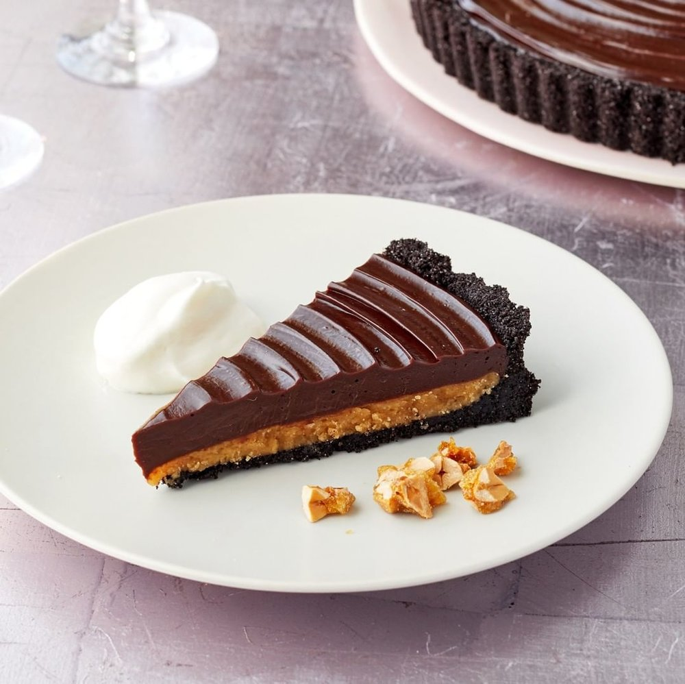 Peanut Butter Ganache Tart (Martha Bakes on PBS), Photo by Mike Krautter