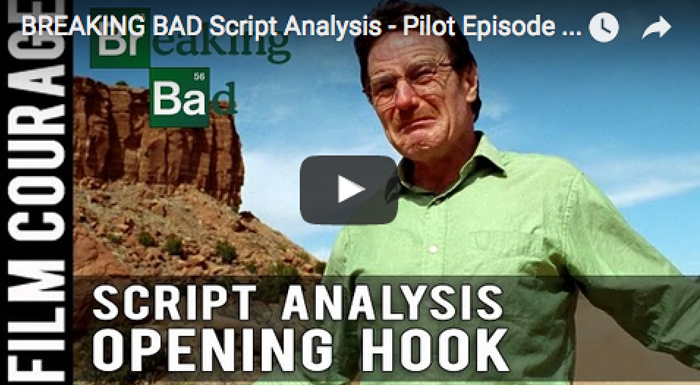 annerocious :     filmcourage :     (  Watch the video on Youtube here  )   BREAKING BAD Script Analysis - Pilot Episode - Theme and the A and B Stories via FilmCourage.com.       Do you know you need 28 beats spread out over 4 storylines in your hour-drama pilot? Now you do! This is a fun little 9 minute intro to designing your script.