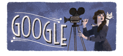 coolchicksfromhistory :    Google Doodle celebrating the birthday of actor, director, and producer Mary Pickford (1892-1979).     I loved this doodle