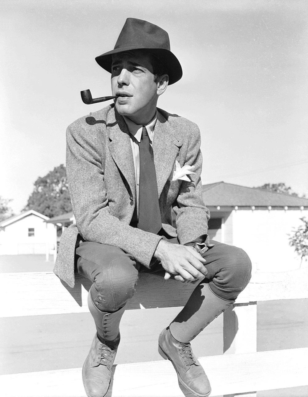 wehadfacesthen :      Humphrey Bogart , 1939, publicity photo for  Dark Victory
