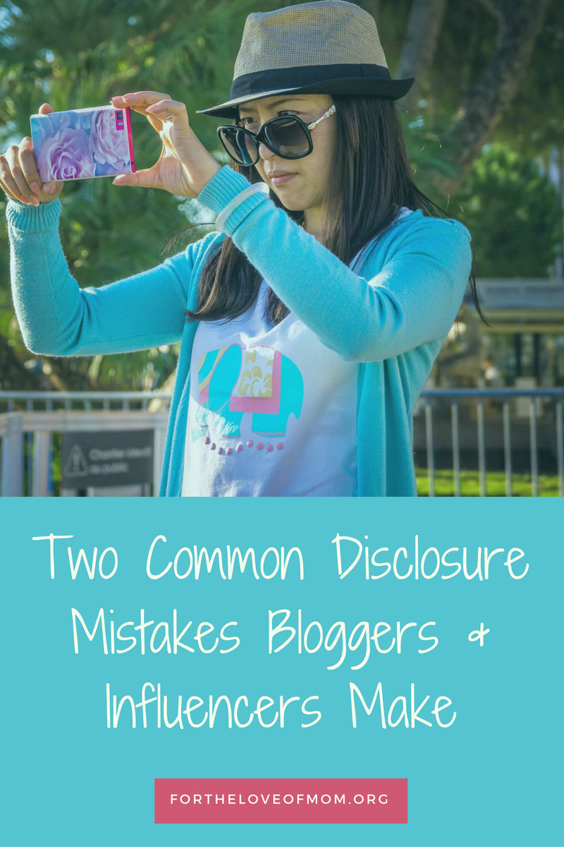 There are two common disclosure mistakes that I see bloggers and influencers make on a daily basis. Are you making them? Click and see!