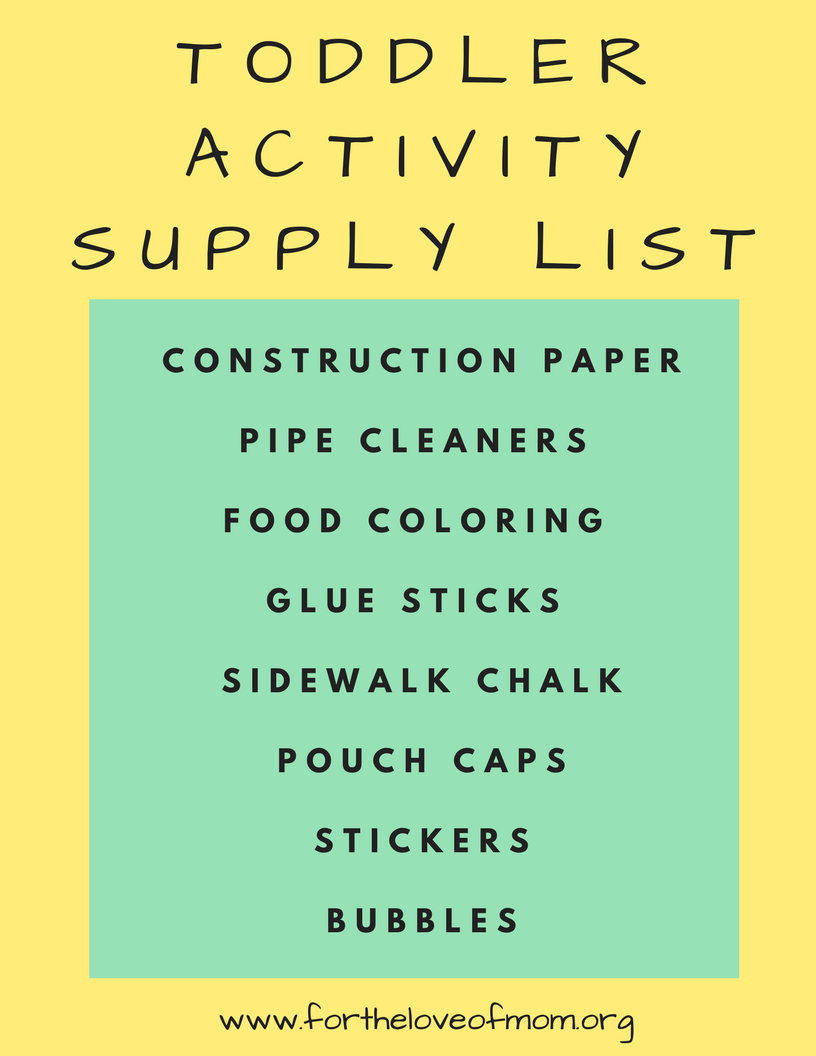 Toddler-Activity-Supply-List