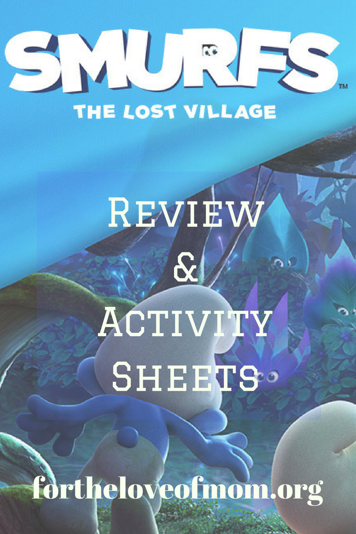 Smurfs The Lost Village Movie Review & Activity Sheets for Kids