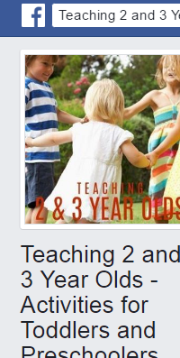 Teaching 2 & 3 Year Olds - Activities for Toddlers & Preschoolers