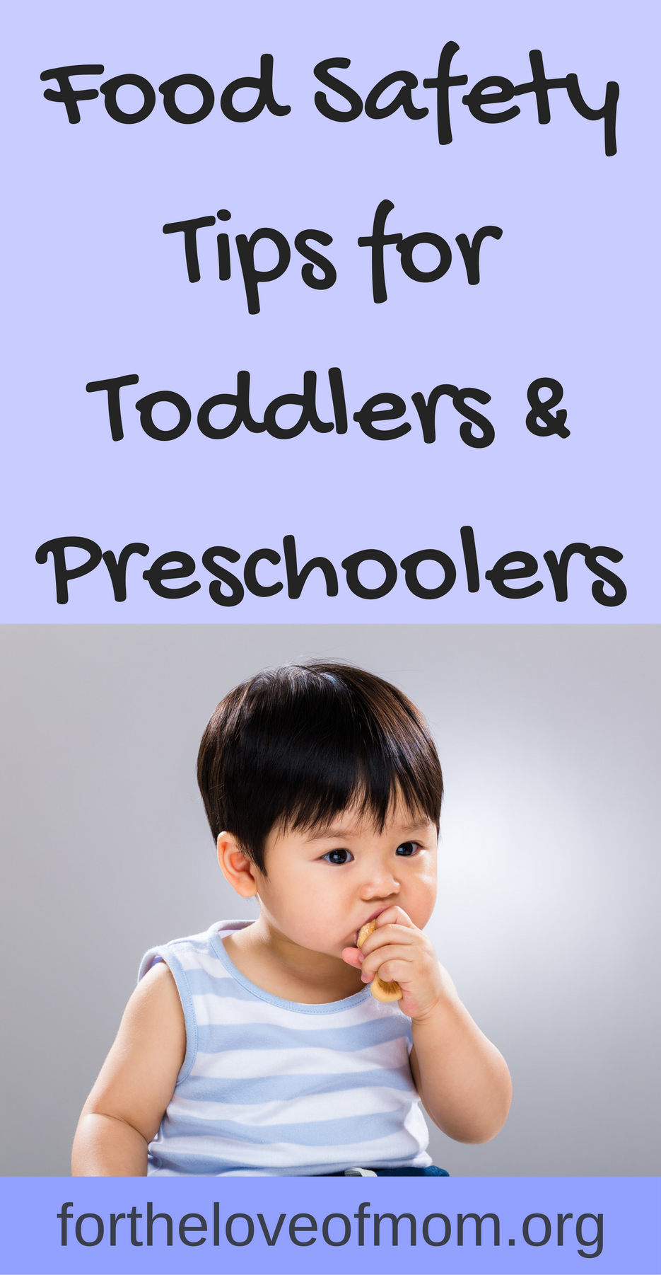 Food Safety for Toddlers & Preschoolers | Food Safety Tips for Parents of Young Children | How to Prevent Choking in Toddlers | Food Choking Prevention Tips for Parents | #toddlers | #preschoolers | #toddlerfood | #kidfood | #parenting | www.fortheloveofmom.org