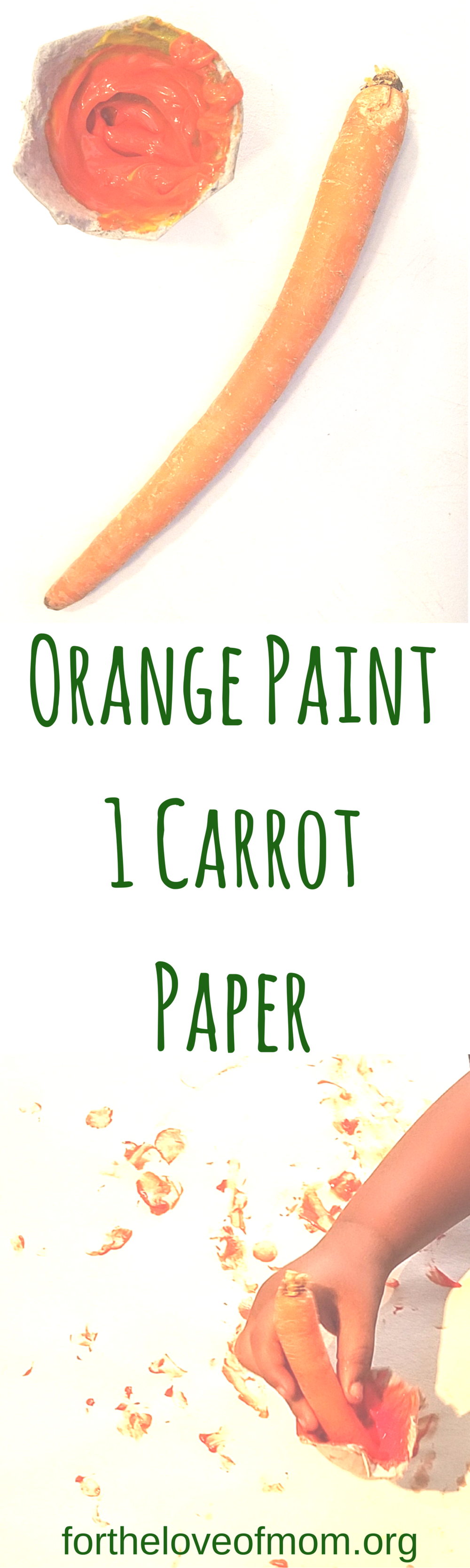 Veggie Crafts for Toddlers | Veggie Activities for Preschoolers | Carrot Painting | Veggie Painting | #toddlers | #preschoolers | #