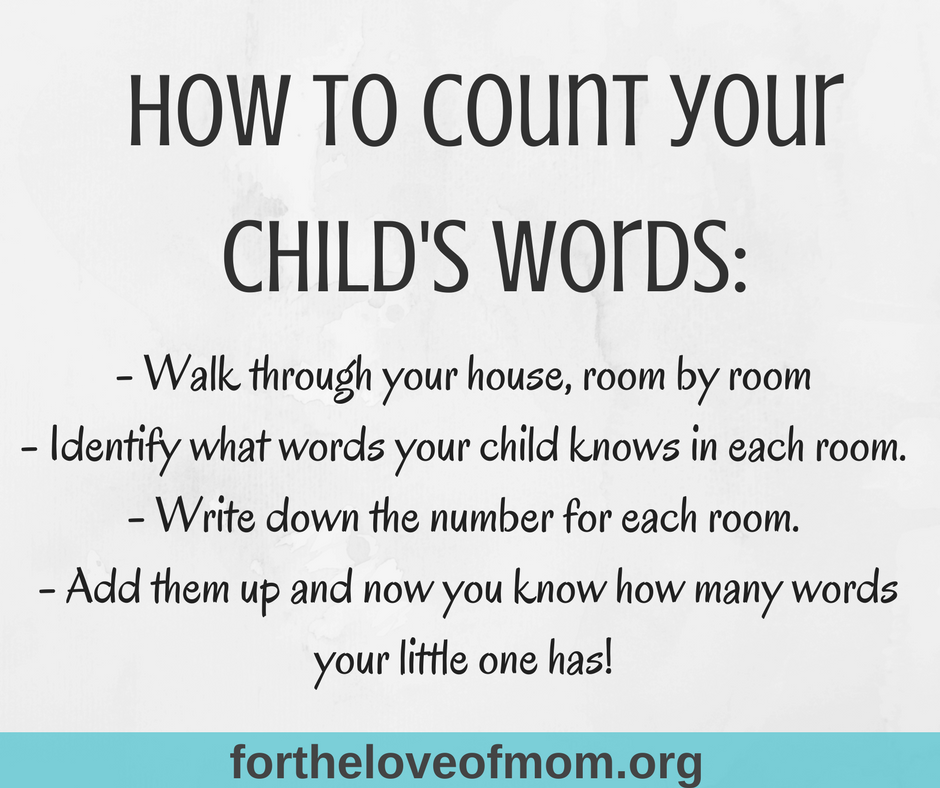 How to Count Your Child's Words | Speech & Language Development Tips for Moms | Important Speech Milestones | www.fortheloveofmom.org