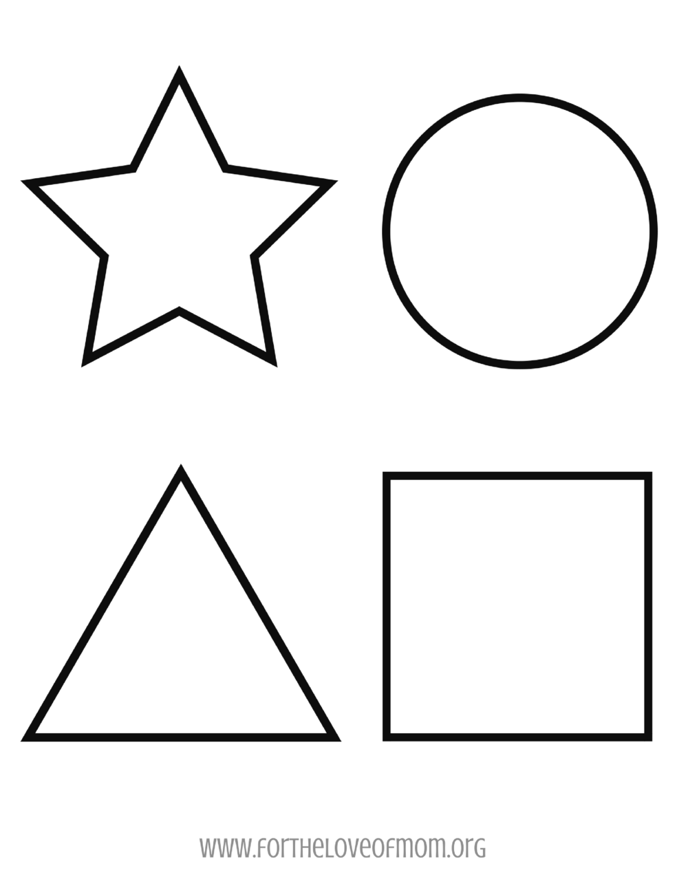 Shapes Coloring Page -