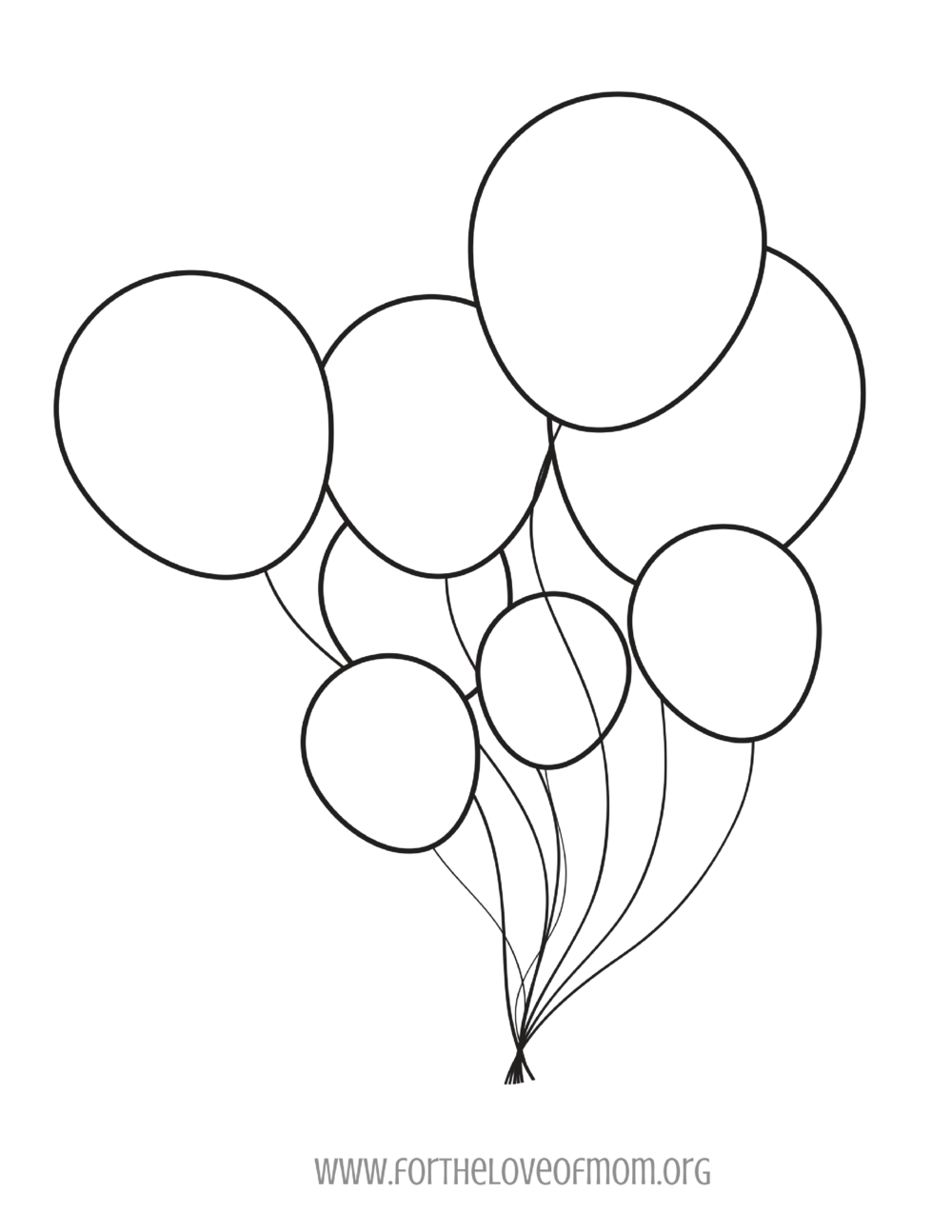 Balloon Coloring Page -
