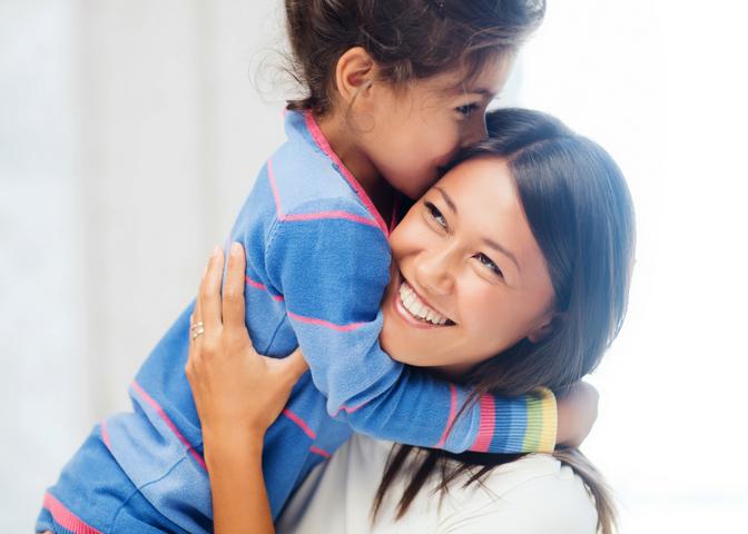 Mom Hugging Daughter _ Raising Successful Kids _ www.fortheloveofmom.org