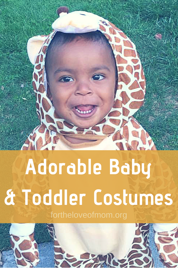 Check out these adorable baby and toddler Halloween costumes! #halloween #costumes #baby #toddler fortheloveofmom.org