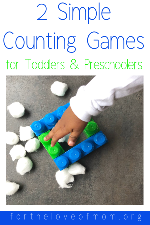 Two Simple Counting Games to Help Introduce Toddlers and Preschoolers to Math - #toddlers #preschoolers - #totschool #homeschooling - For the Love of Mom Blog - www.fortheloveofmom.org