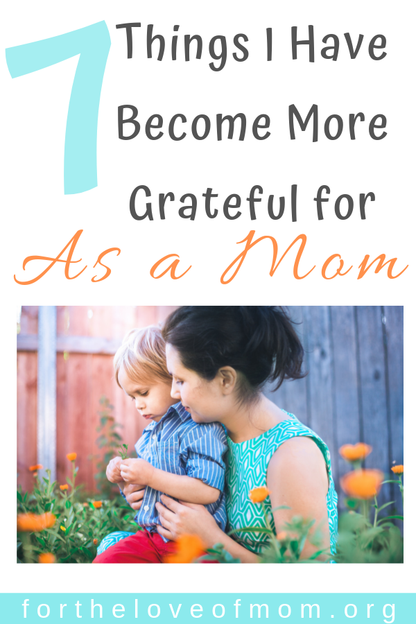 Motherhood has helped me to appreciate some of the simpler things in life. Read this quirky little post to find out what I have become more grateful for as a mom. #momlife #motherhood For the Love of Mom Blog - for.png