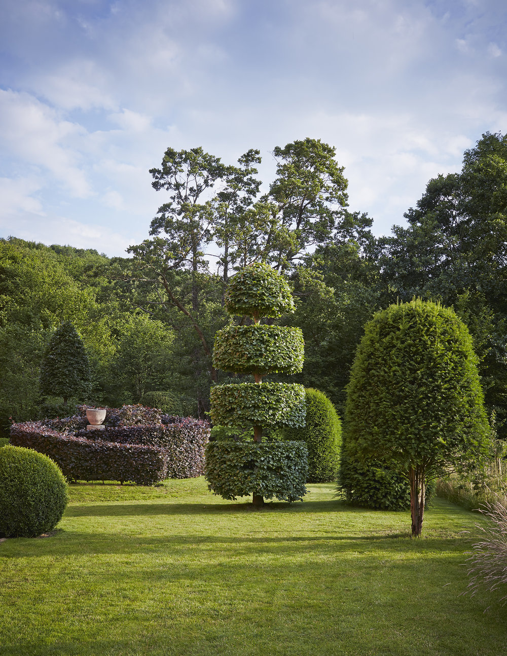 Topiaries at Allt-y-Bela