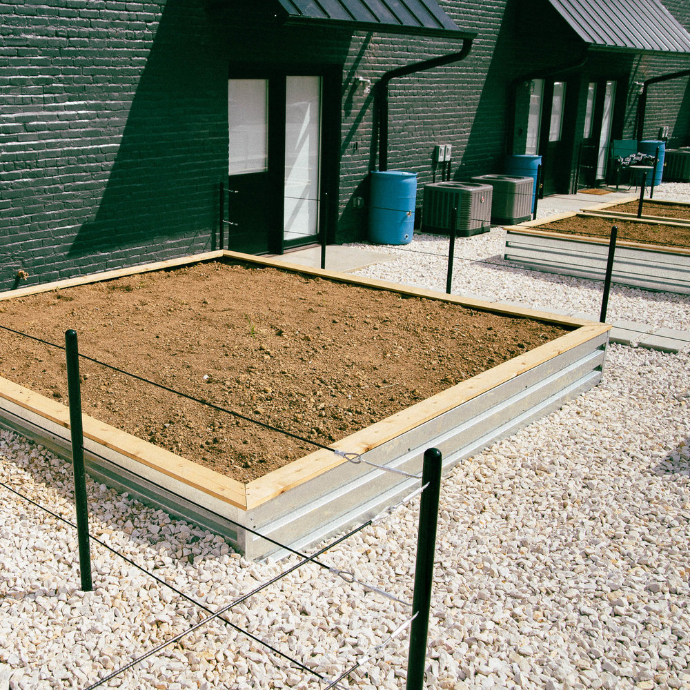 Fresh Fare: Our raised garden beds are ready to be planted to bring you only the best, local ingredients.