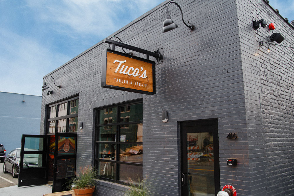 Taqueria Transformation: Tuco's exterior has come a long way, morphing from an old warehouse into a restaurant.