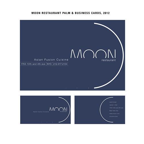 Moon restaurant palm business cards zack brown colourmoves