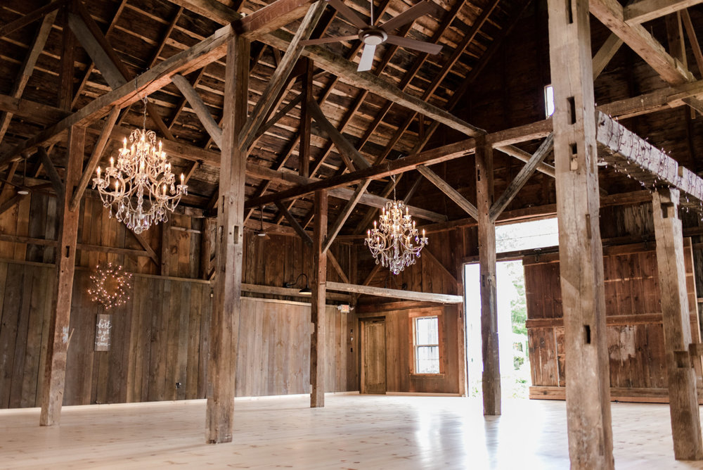 Bear Mountain Inn's newly renovated wedding barn.