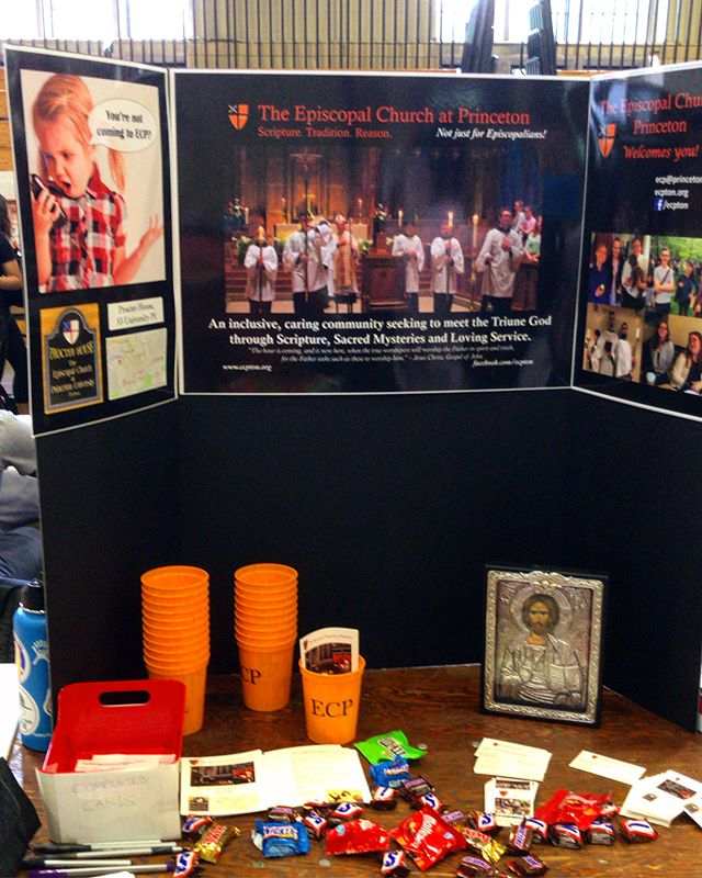 "We had some fun today at the Princeton Undergraduate Activities Fair! Did you stop by to receive some ""ECP Swag?"" We want your help for next year! What kind of swag should we get? Comment your ideas below!  #ECP #episcopal #episcopalchurch #princetonuniversity #undergraduate #swag #episcopals #wehavefunhere #hashtagsforjesus"