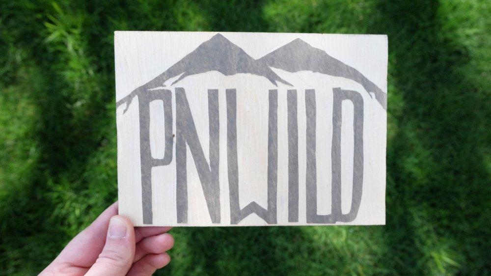 PNWILD | Pacific Northwest Woodcut | Blue Pine Sea