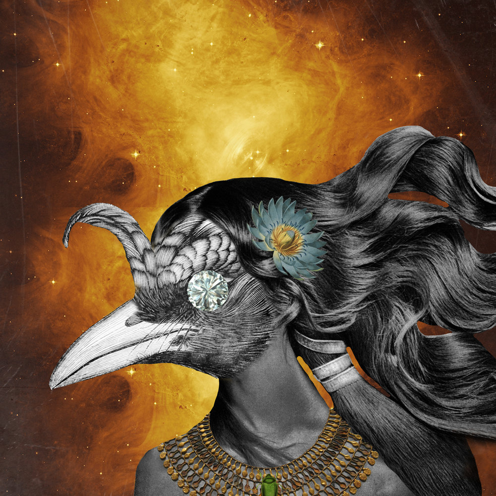 Egypt_Bird_Princess_ShainaSheaff_Collage_Art_Album_Cover