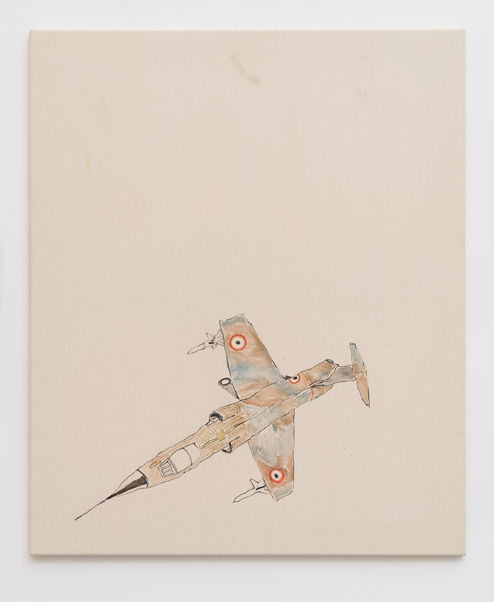 Spitfire , 2017  ink and watercolour on canvas