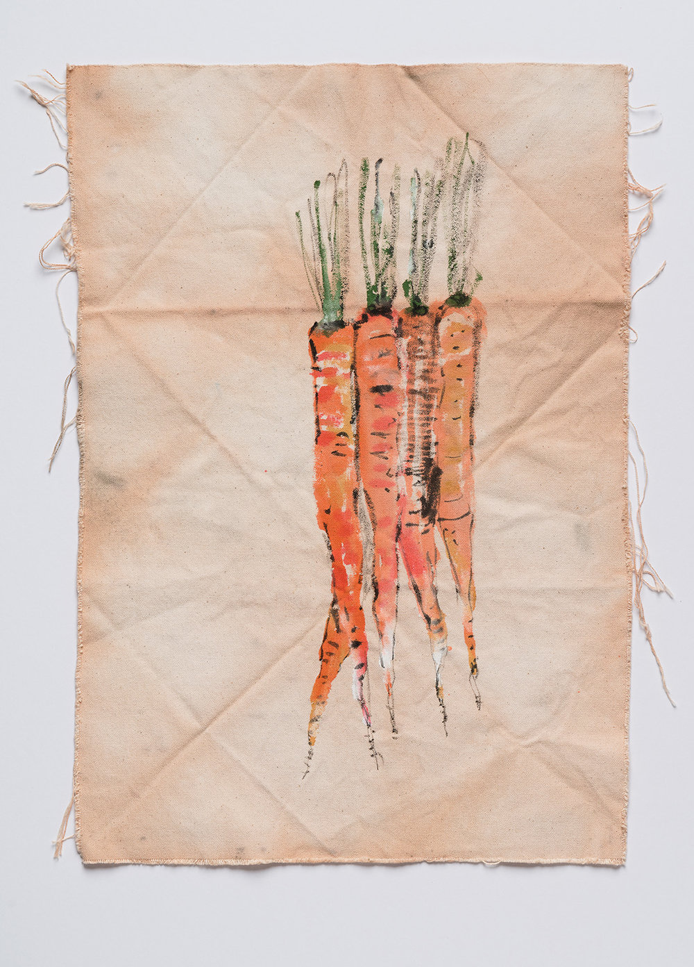 Homegrown , 2017  ink, pigment, and onion dye on canvas