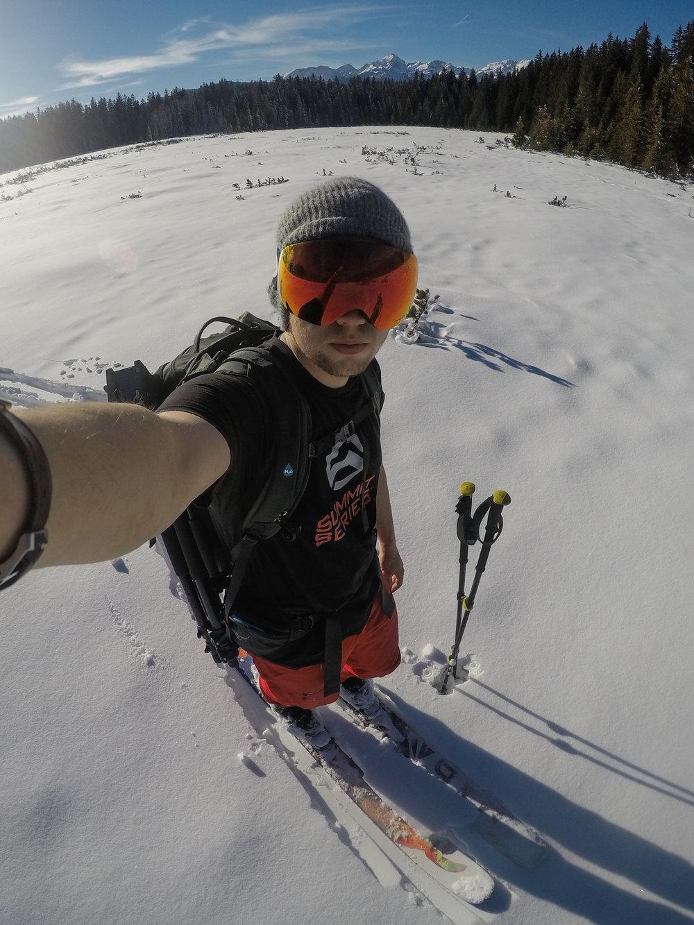 Ski touring in the Triglav National Park, Slovenia