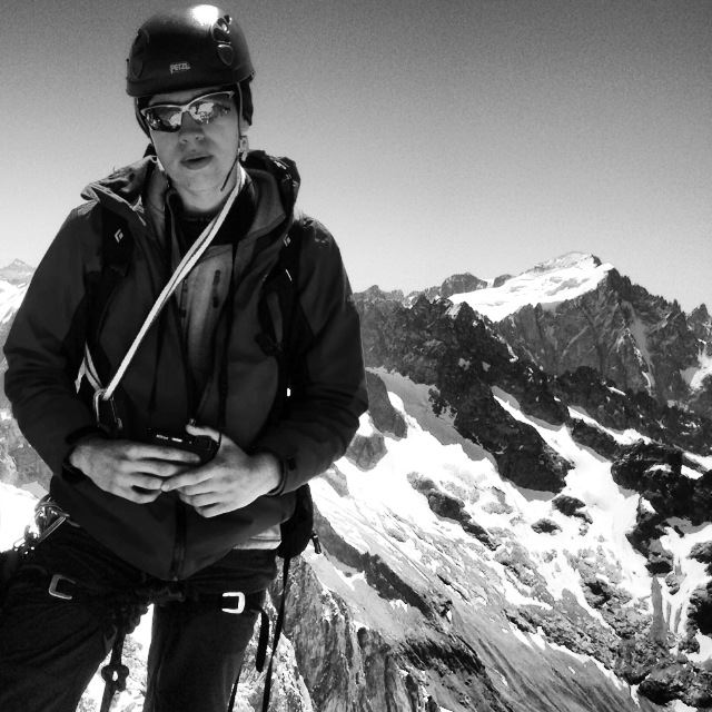 17 year old me after climbing the ridge to the Rateau Ouest, La Grave, 3809m Alt