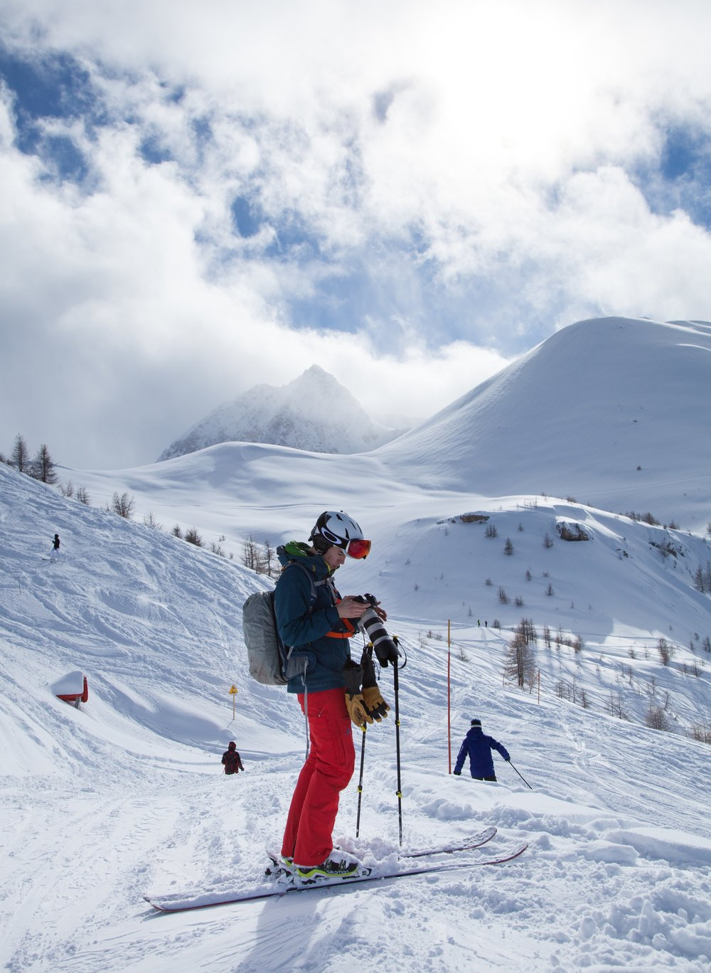 BTS from a shoot for Serre Chevalier Tourism board.  Image by good friend Toby Roney
