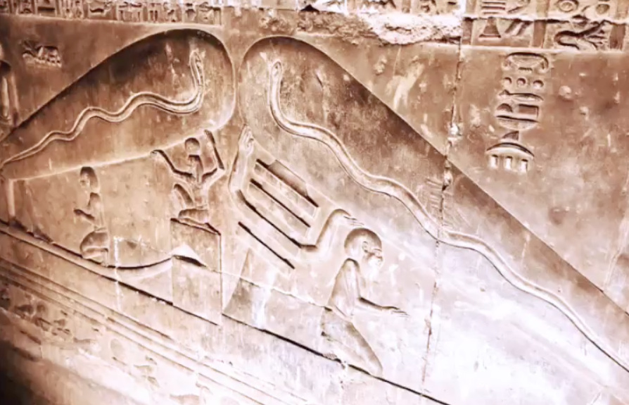 Temple of Hathor, Dendara, Egypt. Ancient Crypt Depicting Enlightenment & Creation As One