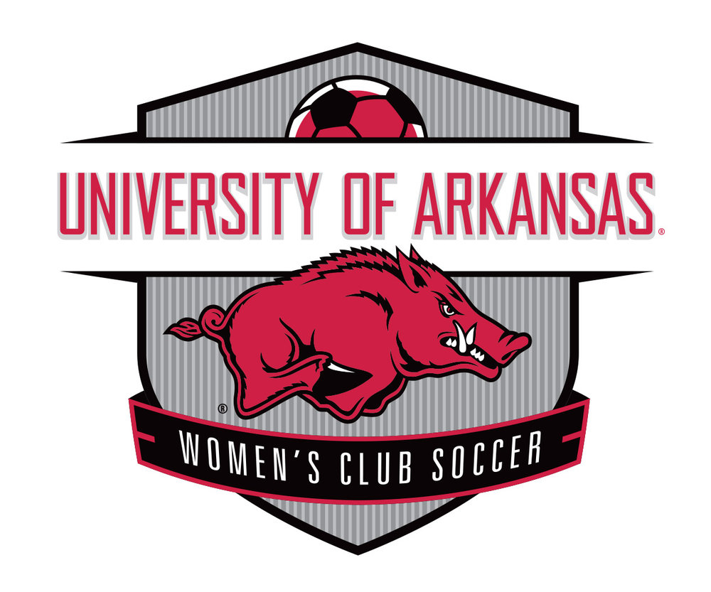 custom soccer logo design for the university of arkansas women's club soccer by jordan fretz design