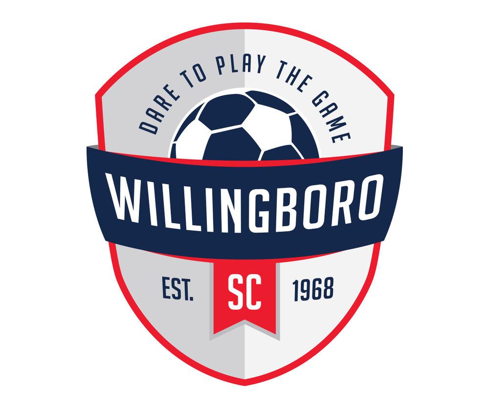 custom soccer logo design for willingboro soccer by jordan fretz design