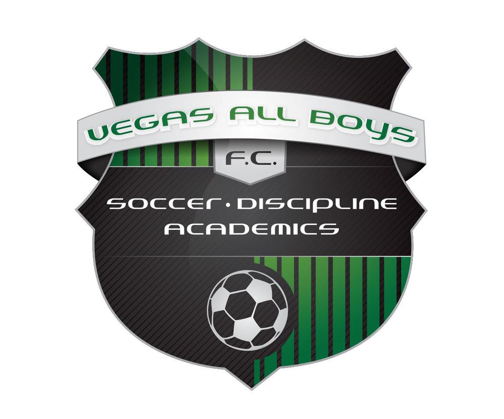 custom soccer logo design for vegas boys fc by jordan fretz design