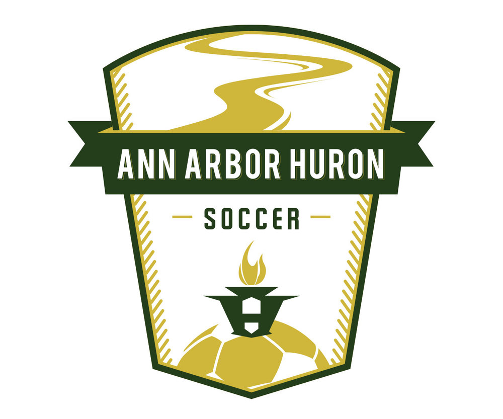 custom soccer logo design for ann arbor soccer by jordan fretz design